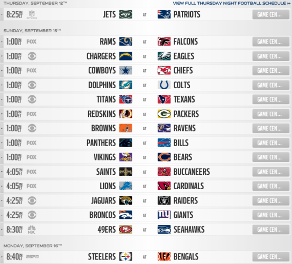 image regarding Nfl Week 2 Schedule Printable named 7 days 2 - Thomas NFL Selections